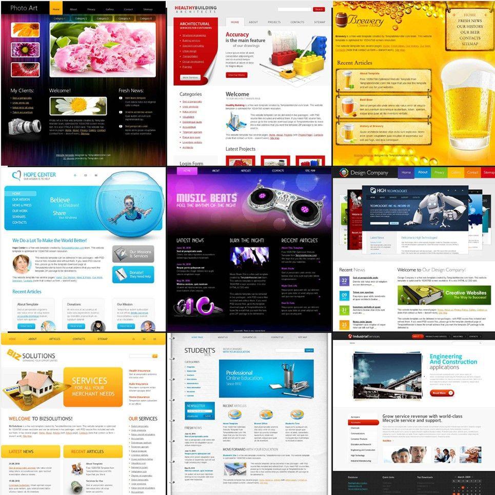 Free HTML5 Website Templates - Bundle Pack