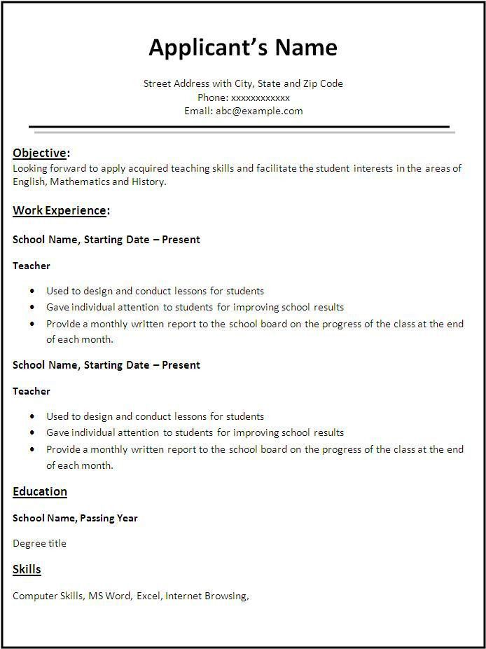 easy sample resume resume builder for teens html cad designer ...