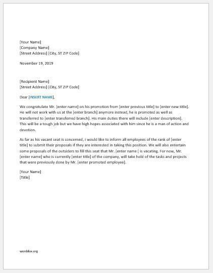 27 Announcement Letter Templates for Everyone | Word Document ...