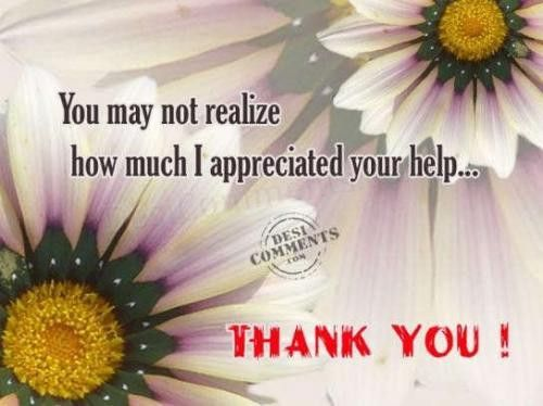 Thanks You For Your Help | Thank You Notes