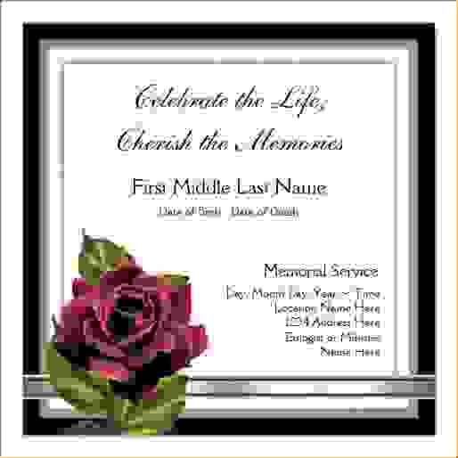 11 funeral announcement templateAgenda Template Sample | Agenda ...