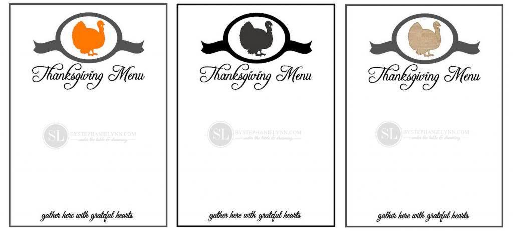 Printable Thanksgiving Menu Template | making printables with the ...