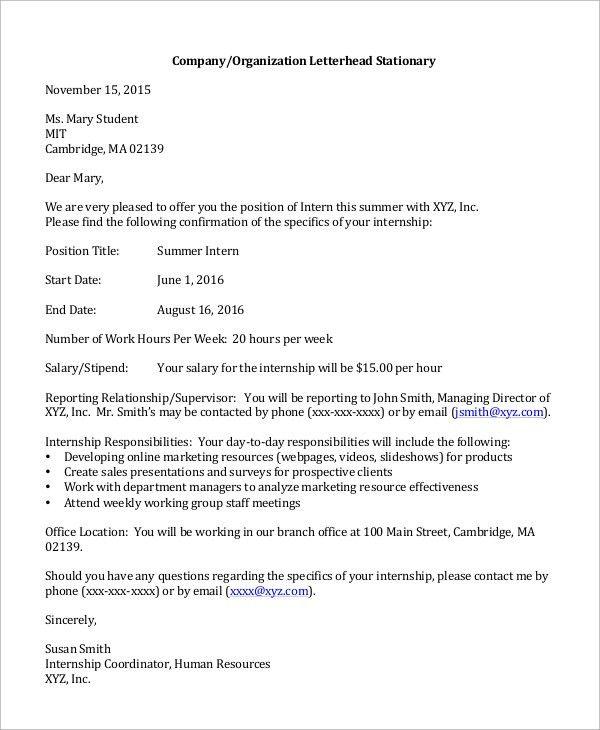 Job Offer Letter Content. Job Offer Letter From Employer Sample .