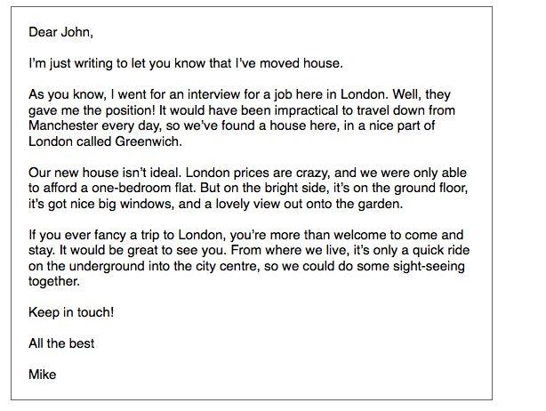 IELTS General Writing: informal letter - ielts-simon.com