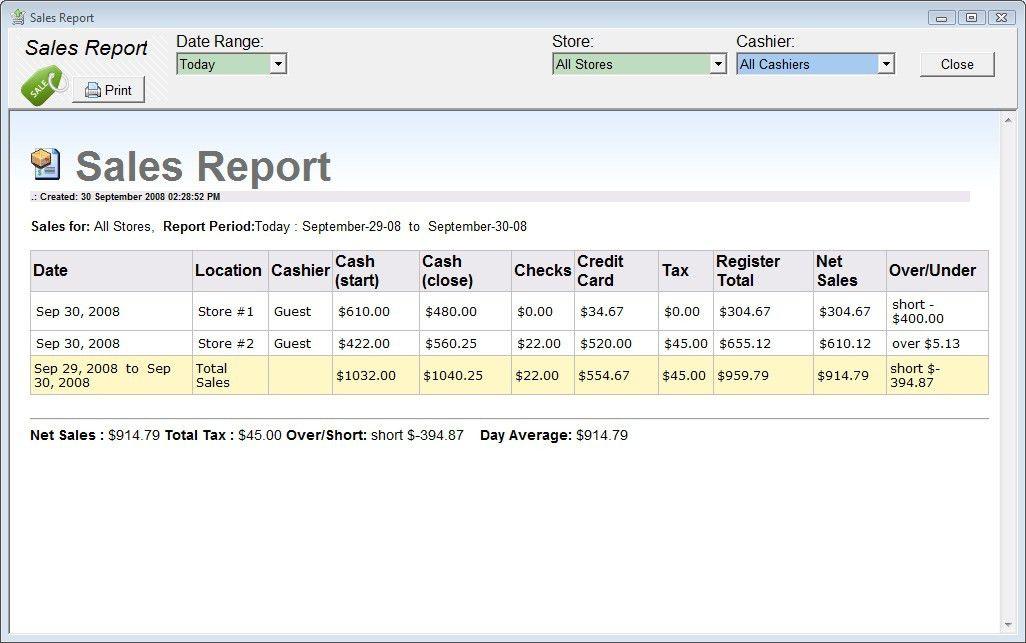 Cash Register Logging Software