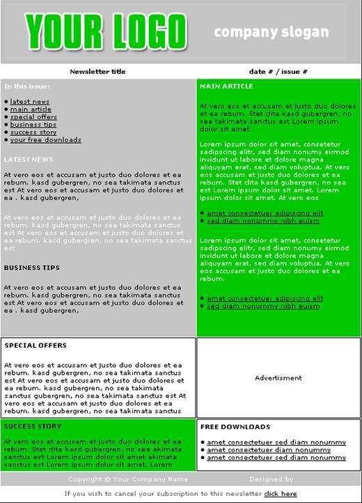 Newsletter Templates - vnzgames