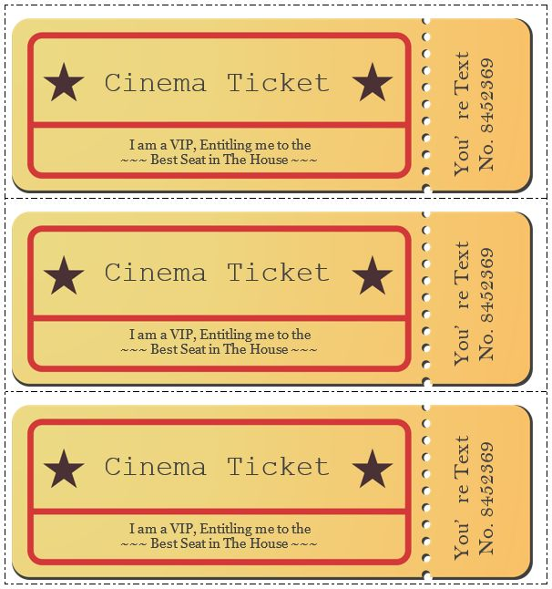 Movie Ticket Template – 5 Free Printable Templates | Format & Template