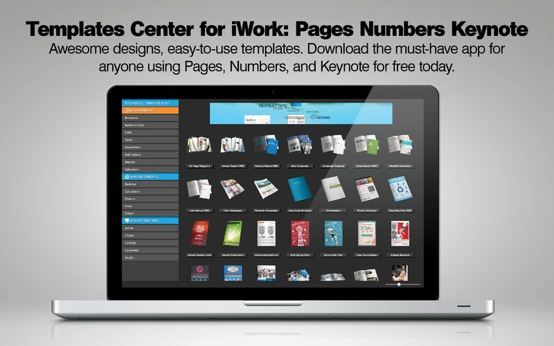 Templates Center for iWork: Pages Numbers Keynote on the Mac App Store