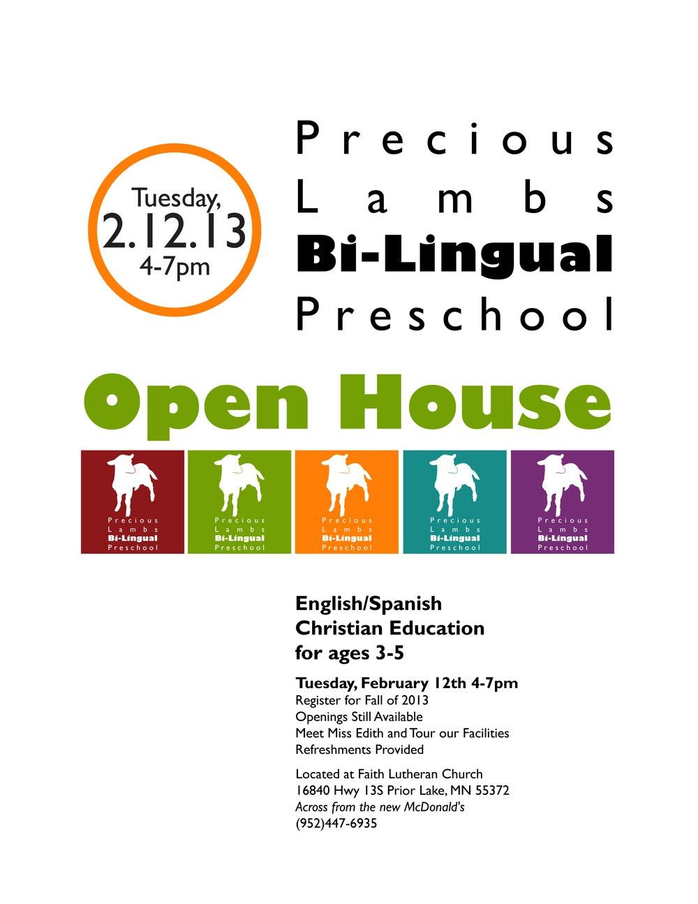 Preschool Open House Flyer — Corissa Nelson Art