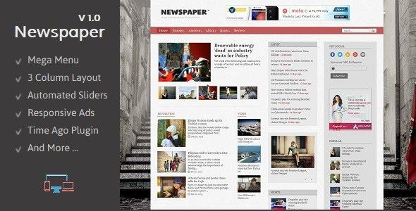 Newspaper - Responsive Blogger Template by TemplatesZoo | ThemeForest