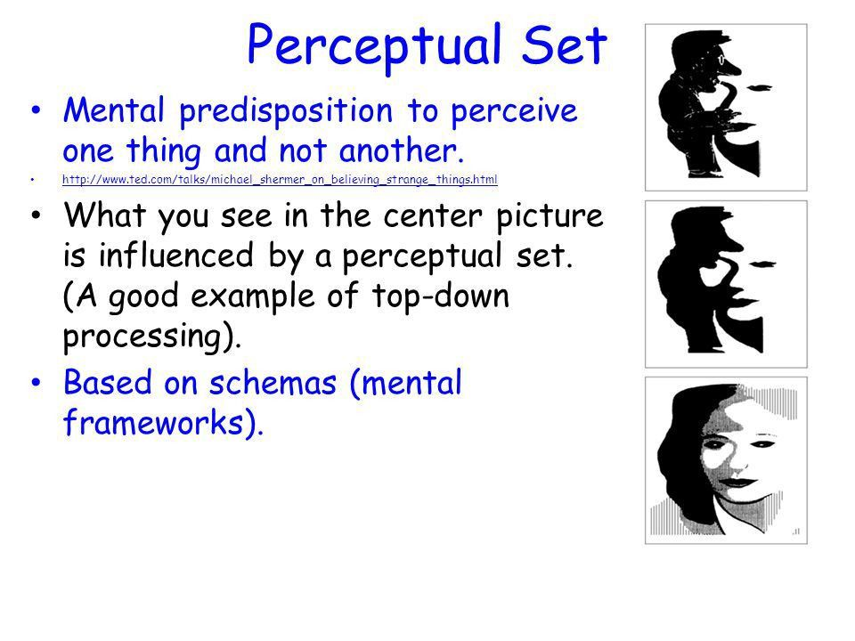 "Perception. Gestalt Psychology Gestalt means ""an organized whole ..."
