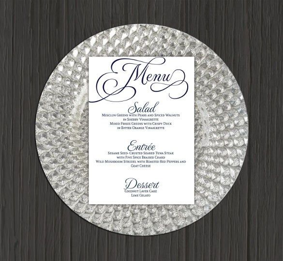 27+ Wedding Menu Templates – Free Sample, Example Format Download ...