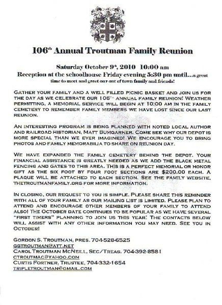 printable example of family reunion program | CLICK HERE to print ...