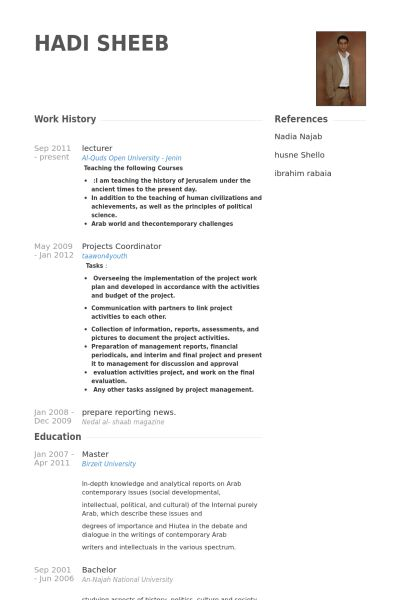 Lecturer Resume Sample] Lecturer Resume Samples Visualcv Database ...