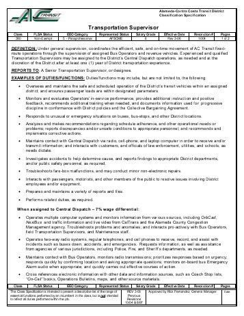 searchaio - transportation supervisor jobs