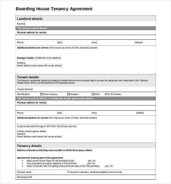 Sample Tenancy Agreements. Download Easy To Edit Landlord Tenant ...