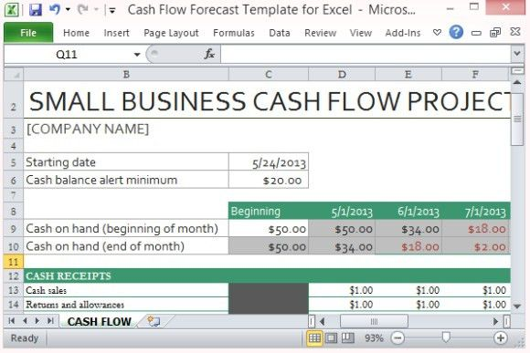 Download Free Cash flow Statement Template Excel | Manager's Club