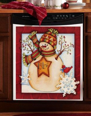 Snowman Believe Holiday Magnetic Dishwasher Cover | I Want ...