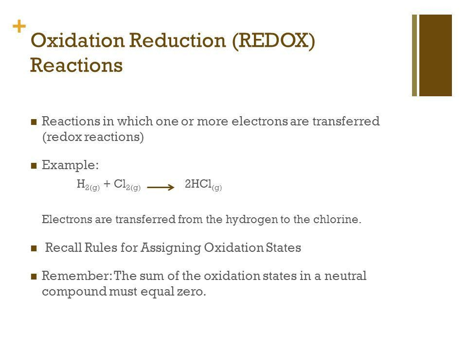 Redox Reactions. - ppt video online download