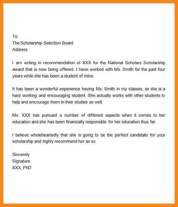 7+ scholarship recommendation letter | nurse resumed