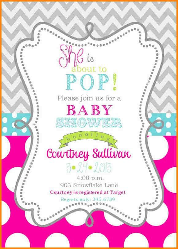 Baby Shower Invitation Template. Blank Baby Shower Invitation ...