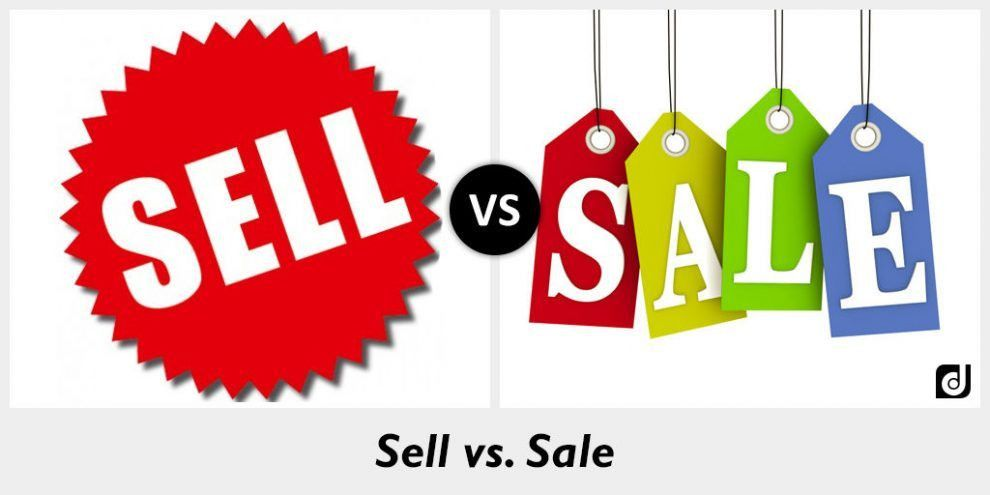Difference between Sell and Sale