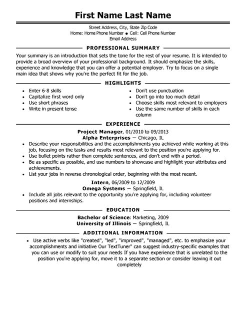 Resume Examples. traditional 2 resume template word basic download ...