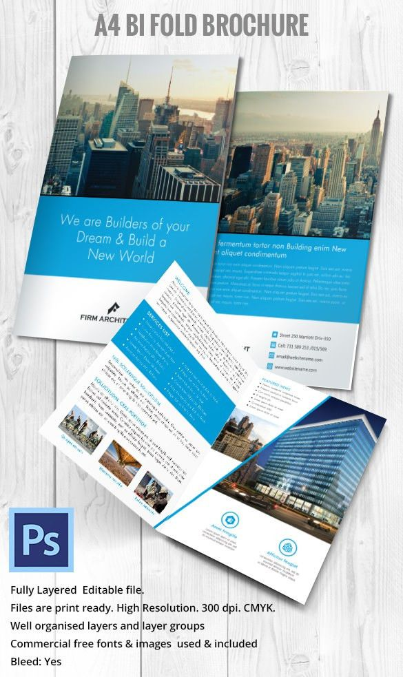 28+ Professional Brochure Templates – Free Word, PSD, PDF, EPS ...