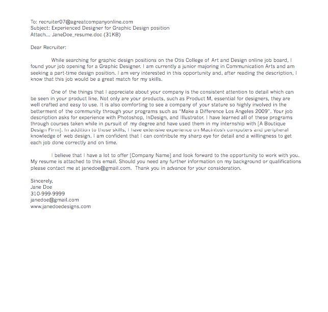 graphic designer cover letter sample - RESUMEDOC