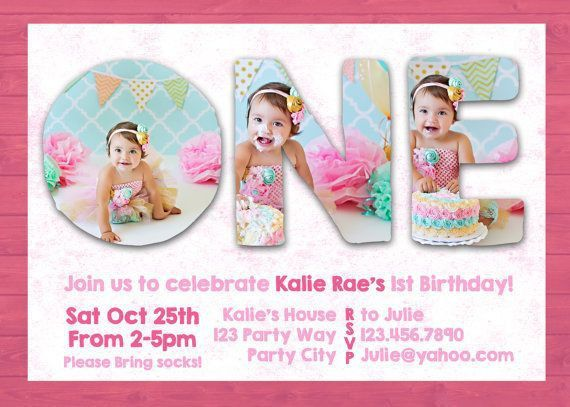 Sample Invitation For 1st Birthday Party - iidaemilia.Com