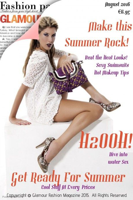 Fashion Glamour Magazine Cover template | PosterMyWall