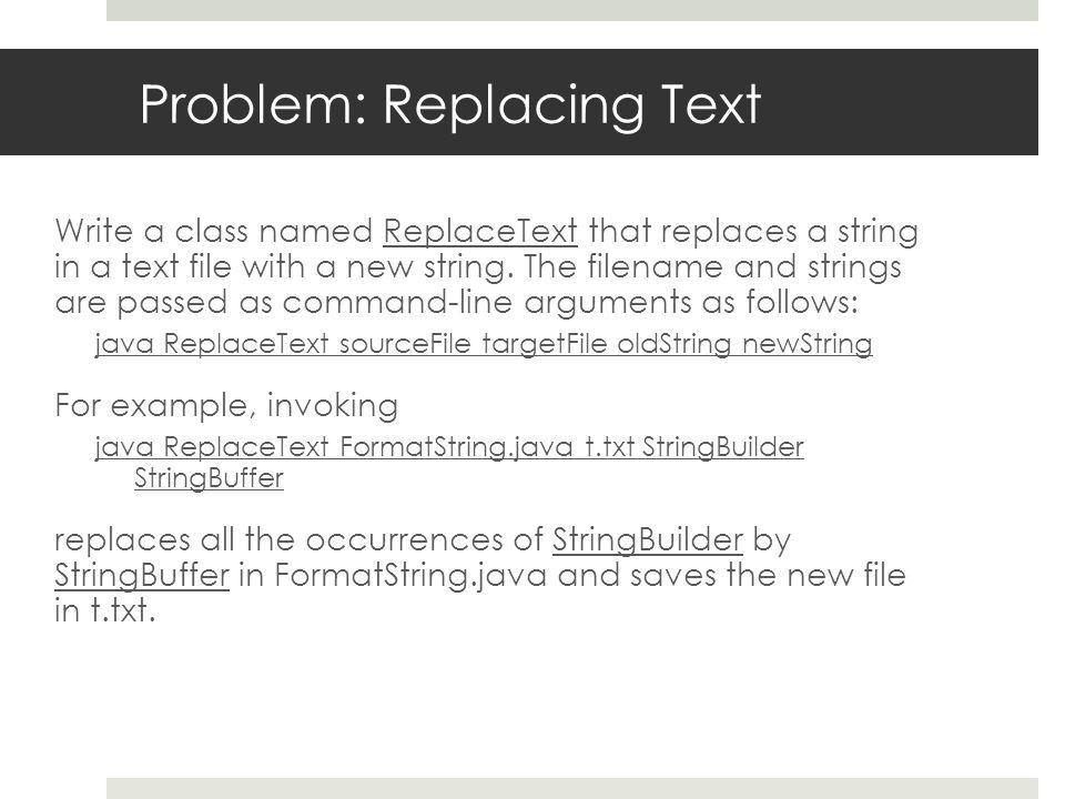 2. I/O Text Files CCSA225 - Advanced Java Programming Sarah Alodan ...