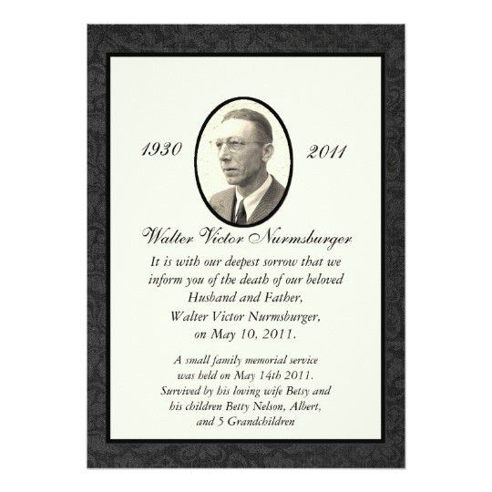 Funeral Invitations & Announcements | Zazzle.co.uk