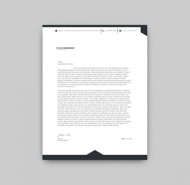 Black and white letterhead template Vector | Free Download