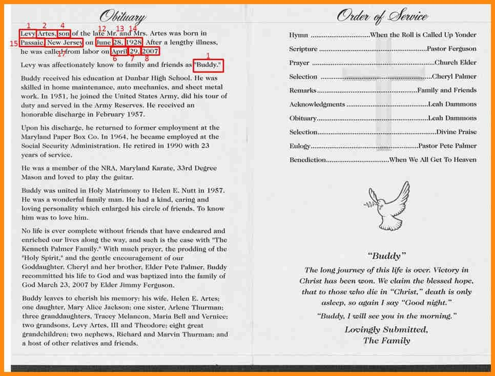7+ how to write an obituary for a funeral program | musicre sumed