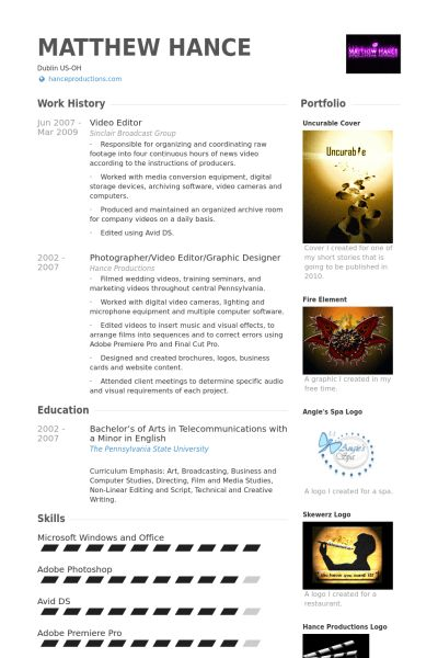 astounding inspiration video production resume 9 video producer ...