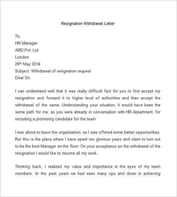 Letters Of Resignation Sample. Example Employee Resignation Letter ...