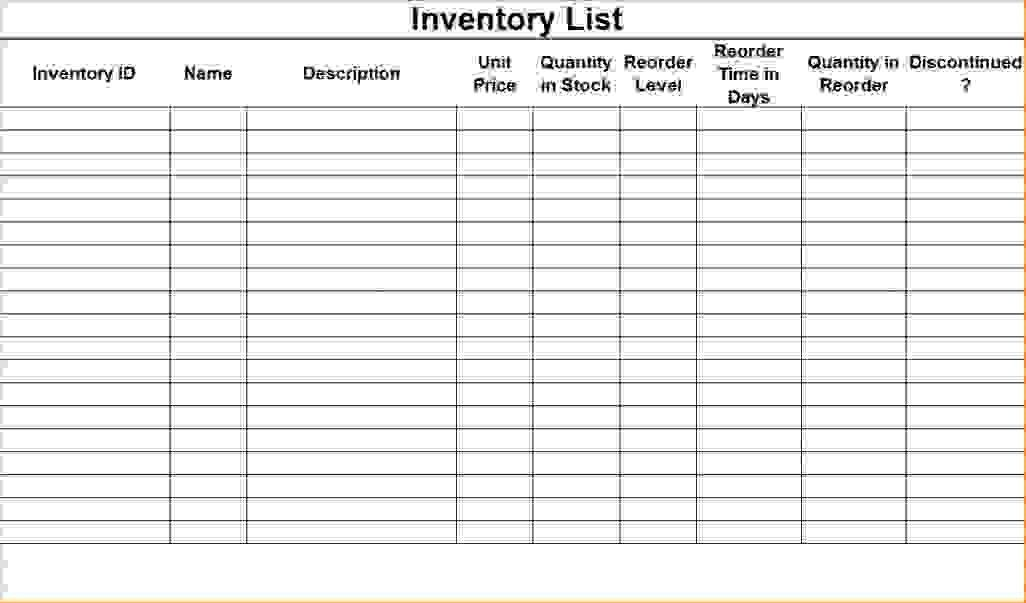 6+ inventory checklist template | Procedure Template Sample