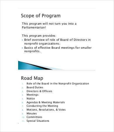 9+ Board Agenda Templates   Free Sample, Example, Format | Free .