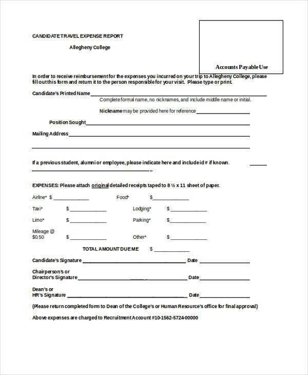21+ Sample Expense Report Forms