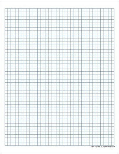 Free Graph Paper (5 Millimeter Solid Blue) from Formville