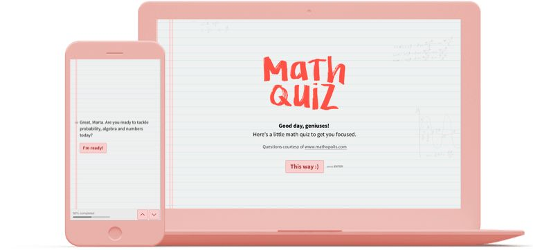 Online Math Quiz Template | Typeform