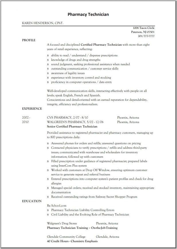 Cvs Resume Example. Technical Resume Examples Service Center ...