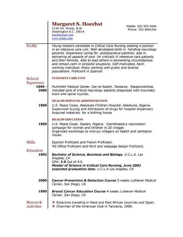resume examples for jobs with little experience - Template
