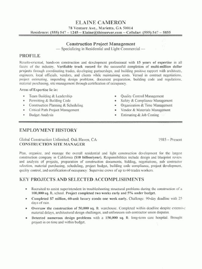 carpenter resumes concrete carpenter resume sales carpenter ...