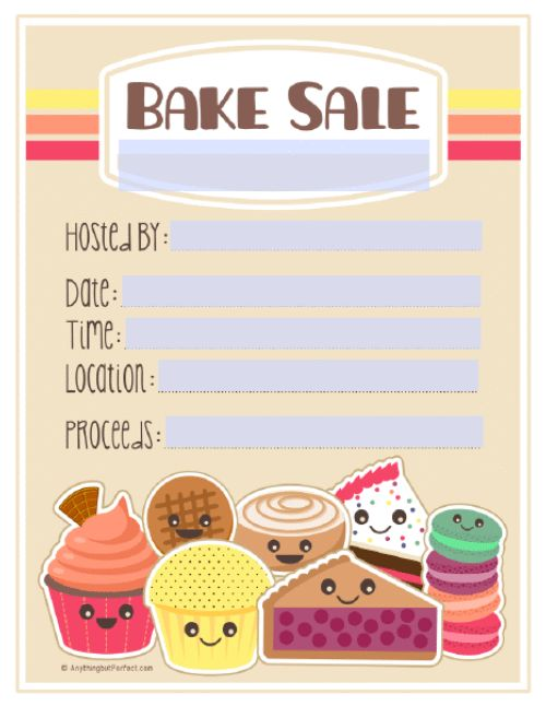 Bake Sale Items Clipart (61+)