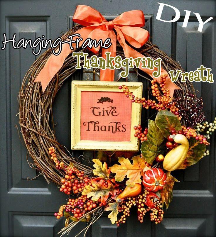 DIY Hanging-Frame Thanksgiving Wreath – Top Easy Interior Decor ...