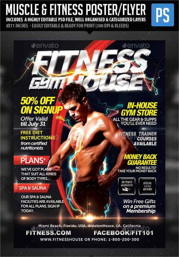7+ Gym Fitness Flyers - PSD, EPS, Vector, InDesign File Formats ...