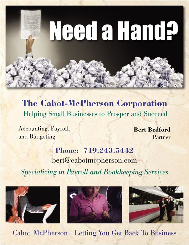 Cabot McPherson accounting services and payroll Colorado Springs