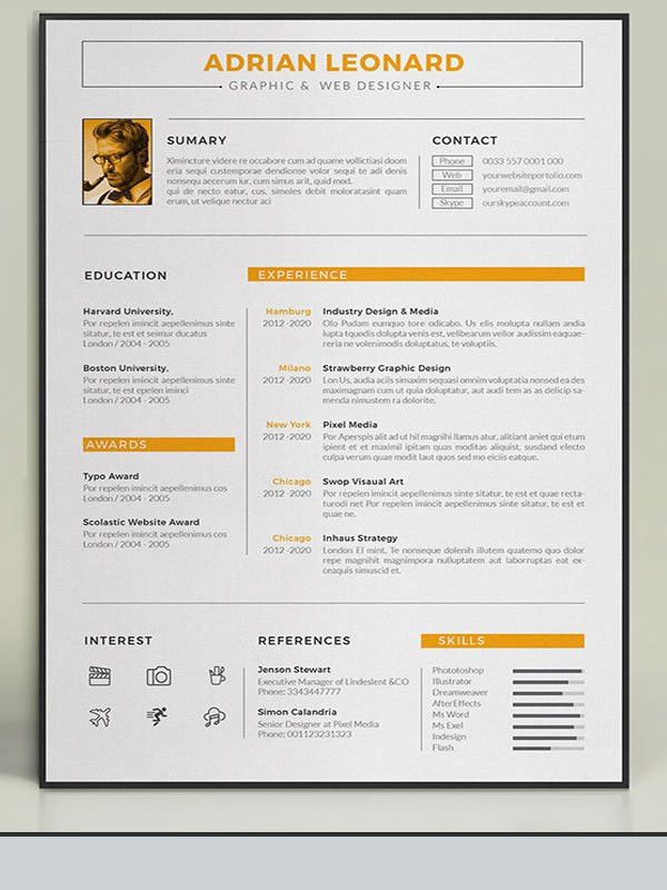 Amazing Resume Templates. Modern Resume Templates Docx To Make ...